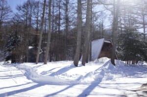 軽井沢 冬 土地